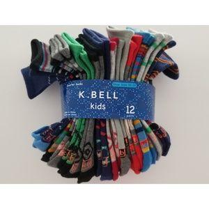 12 pairs of K. bell socks